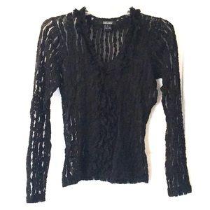 Karen Kane sheer black top